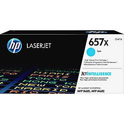 HP 657X Original Toner Cartridge Cyan