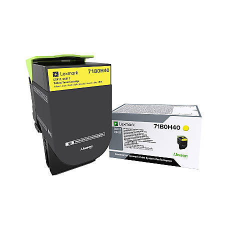 Lexmark™ 71B0H40 High-Yield Yellow Toner Cartridge