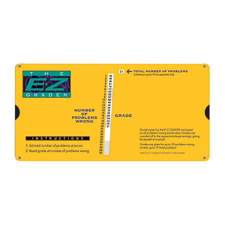 The Original E-Z Grader Large Print Slide Charts, Yellow, Pack Of 3