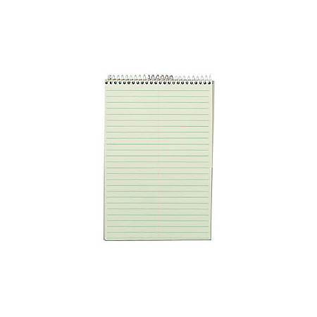 """TOPS™ Steno Book, 6"""" x 9"""", Gregg Ruled, 80 Sheets, Green"""