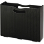 "Smead File Box - Letter - 8 1/2"" x 11"" Sheet Size - 3"" Expansion - Polypropylene - Black - 1 Each"