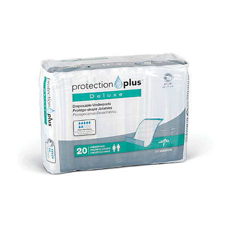 "Protection Plus® Fluff-Filled Disposable Underpads, Deluxe, 23"" x 36"", Case Of 120"