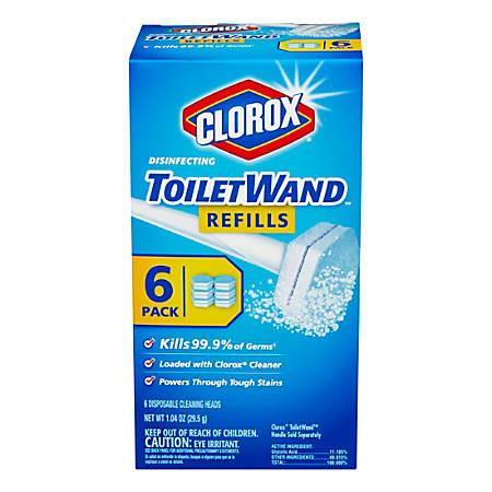 Clorox® Disnfecting ToiletWand™ Refills, Pack Of 6