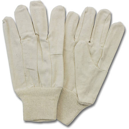 Safety Zone Cotton Polyester Canvas with Knit Wrist - Cotton, Jersey - Comfortable, Rugged, Knit Wrist, Clute Cut