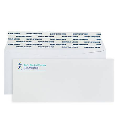 """Custom Full-Color Standard Business Envelopes, Peel & Seal, #10, 4-1/8"""" x 9-1/2"""", White, Box Of 250 Envelopes"""