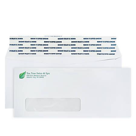 """Custom Full-Color Standard Business Envelopes, Peel & Seal Window, #10, 4-1/8"""" x 9-1/2"""", White, Box Of 250 Envelopes"""