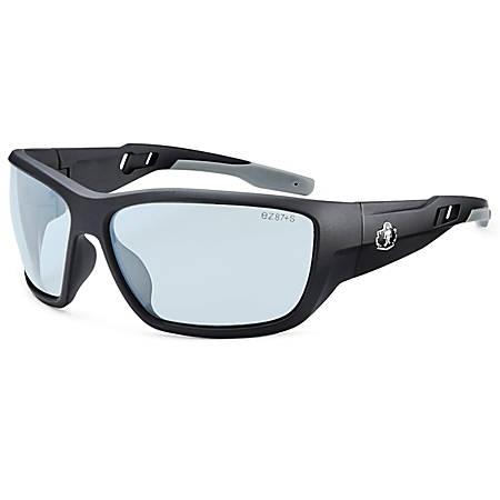 Ergodyne Skullerz® Safety Glasses, Baldr, Anti-Fog, Matte Black Frame, Indoor/Outdoor Lens