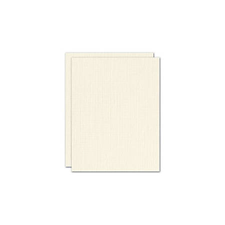 "Blank Stationery Second Sheets For Custom Letterhead, 24 Lb, 8-1/2"" x 11"", Off-White Linen, Box Of 500 Sheets"