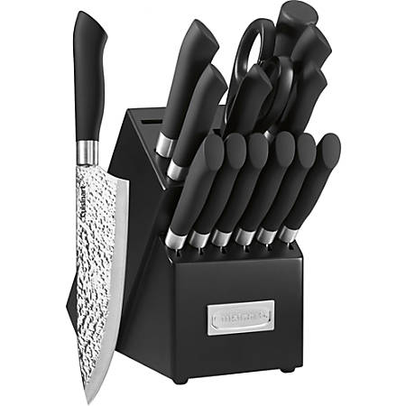 """Cuisinart Artisan Collection Cutlery Block Set - 15 Piece(s) - 1 - 1 x Chef's Knife, 1 x Carving Knife, 1 x Bread Knife, 1 x Santoku Knife, 1 x Utility Knife, 1 x Paring Knife, 6 x Steak Knife - 8"""" Length Chef's Knife, 8"""" Length Carving Knife, 8"""" Length"""