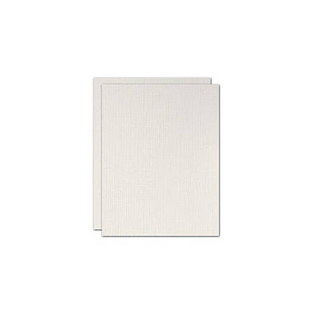 """Blank Stationery Second Sheets For Custom Letterhead, 24 Lb, 8-1/2"""" x 11"""", Gray Linen, Box Of 500 Sheets"""