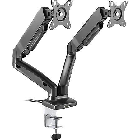 Lorell® Dual Arm Desk Mount, Black
