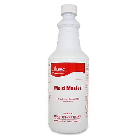 RMC Mold Master Tile/Grout Cleaner - Ready-To-Use Foam Spray - 0.25 gal (32 fl oz) - Floral Scent - 12 / Carton - Amber