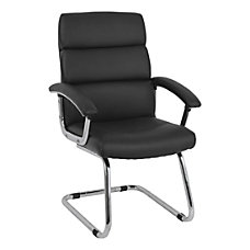 HON Traction Leather Guest Chair Black