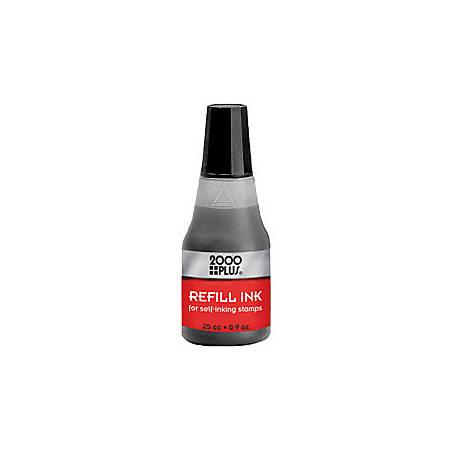 2000 PLUS® Self-Inking Stamp Re-Ink Fluid, 1 Oz., Black
