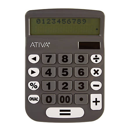 Ativa® TrackBack 2-Line Calculator, Multicolor, DD-2361