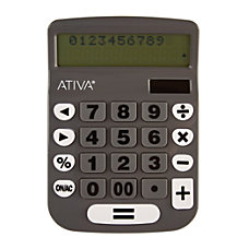 Ativa TrackBack 2 Line Calculator Multicolor