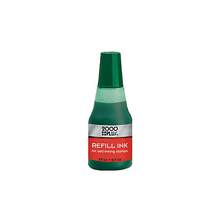 2000 plus self inking stamp re ink fluid 1 oz green by office depot