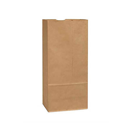 "General Paper Bags, 25#, 15 7/8"" x 8 1/4"" x 6"", 40 Lb Base Weight, 40% Recycled, Brown Kraft, Bundle Of 500"