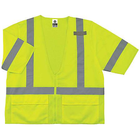 Ergodyne GloWear Safety Vest, Standard, Type-R Class 3, 4X/5X, Lime, 8320Z