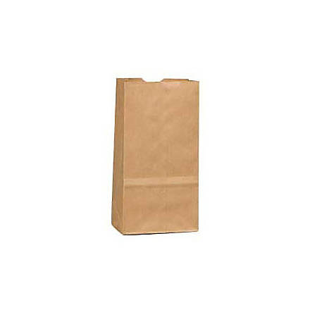 "General Paper Bags, 2#, 7 7/8"" x 4 5/16"" x 2 7/16"", 30 Lb Base Weight, 40% Recycled, Brown Kraft, Bundle Of 500"