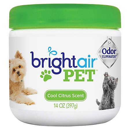Bright Air® Pet™ Odor Eliminator Air Freshener, Gel, 14 Oz, Cool Fresh Scent