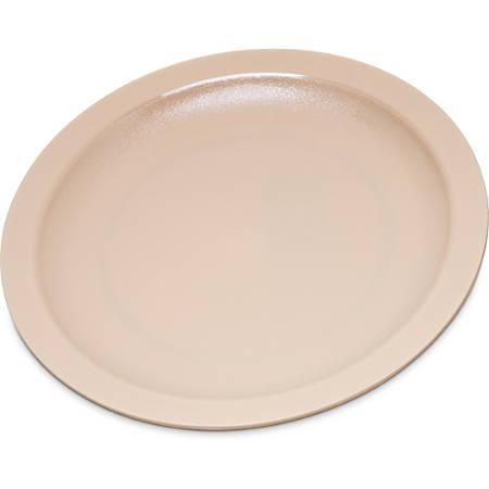 "Carlisle Narrow-Rim Polycarbonate Plates, 7 1/4"", Tan, Pack Of 48 Plates"