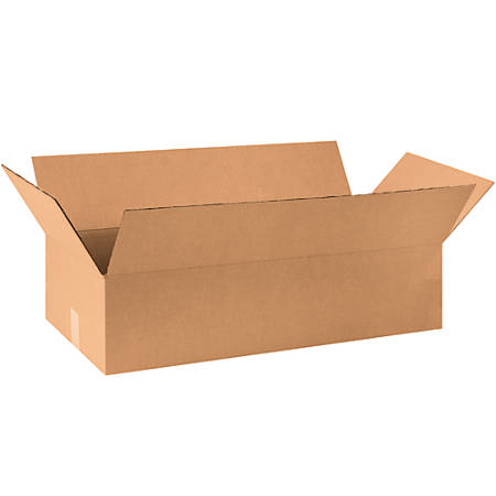 "Office Depot® Brand Corrugated Boxes, 12""H x 20""W x 36""D, 15% Recycled, Kraft, Bundle Of 15"