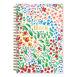 "Blue Sky™ Teacher Weekly/Monthly Academic Planner, 5"" x 8"", Ditsy Dapple Floral, July 2019 to June 2020"