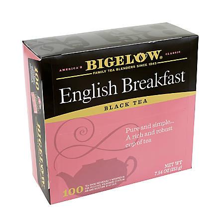 Bigelow Tea Bags, English Breakfast, Pack Of 100