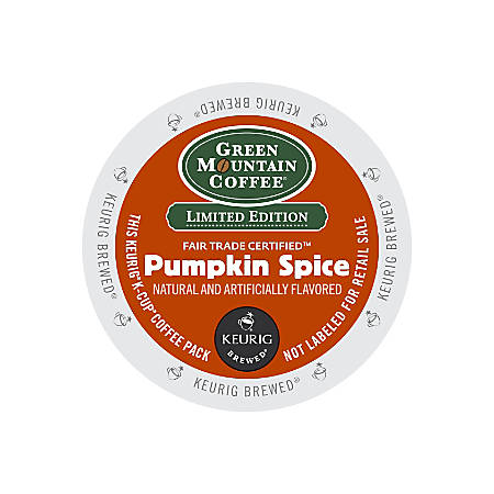 Green Mountain Coffee® Pumpkin Spice Coffee K-Cup® Pods, 3 Oz, Box Of 24 Pods