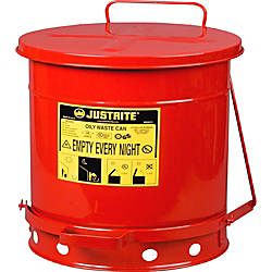 JUSTRITE Red Oily Waste Can 10