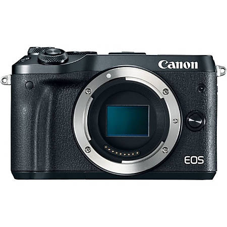 "Canon EOS M6 24.2 Megapixel Mirrorless Camera Body Only - Black - 3"" Touchscreen LCD - 6000 x 4000 Image - 1920 x 1080 Video - HD Movie Mode - Wireless LAN"