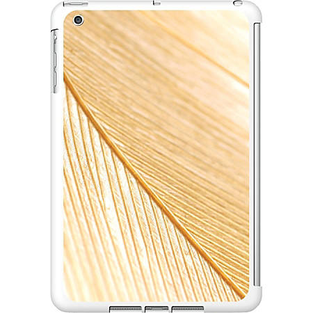 OTM iPad Mini White Glossy Case Feather Collection, Gold
