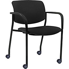 Lorell Stack Chairs Black Set Of