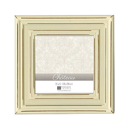 "Timeless Frames® Chateau Frame, 5"" x 5"", Cream"