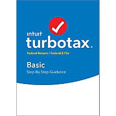 TurboTax Basic Federal E File 2017