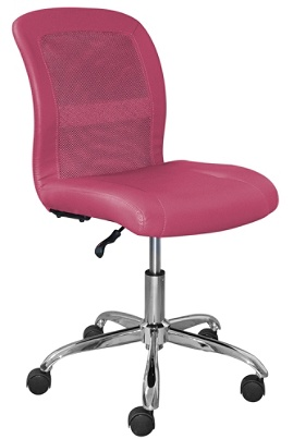 Serta Essentials Faux Leather Mid Back Computer Chair Teamwork Pinkchrome By Office Depot Officemax