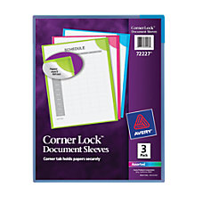 Avery Corner Lock Document Sleeves Pack
