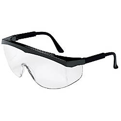 STRATOS BLACK FRAME CLEAR LENS SAFETY