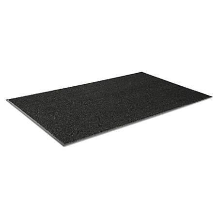 Crown Jasper Indoor/Outdoor Scraper Mat, 3' x 5', Black