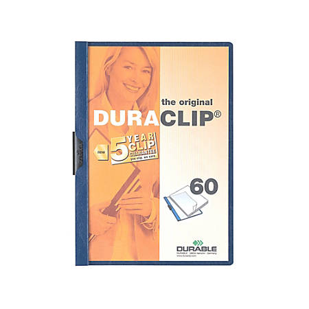 "Durable Duraclip® 60 Report Covers, 8 1/2"" x 11"", Navy"
