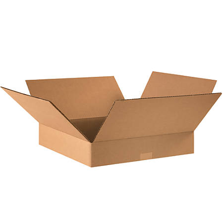 "Office Depot® Brand Corrugated Boxes, Flat, 3""H x 16""W x 16""D, Kraft, Pack Of 25"