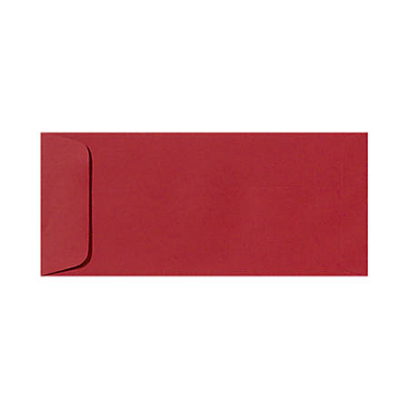 "LUX Open-End Envelopes With Peel & Press Closure, #10, 4 1/8"" x 9 1/2"", Ruby Red, Pack Of 250"