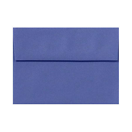 """LUX Invitation Envelopes With Peel & Press Closure, A6, 4 3/4"""" x 6 1/2"""", Boardwalk Blue, Pack Of 1,000"""