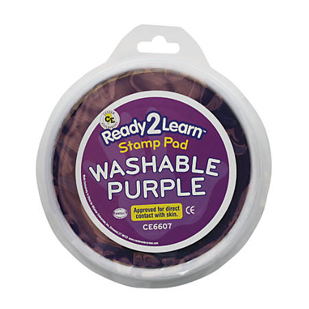 Center Enterprises Jumbo Circular Washable Paint/Ink Pads, 1 Oz, Purple, Pack Of 6