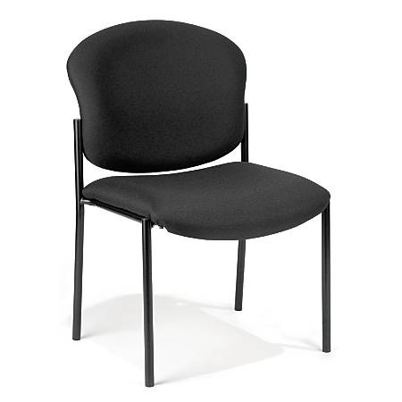 OFM Manor Series Guest Reception Chair, Black