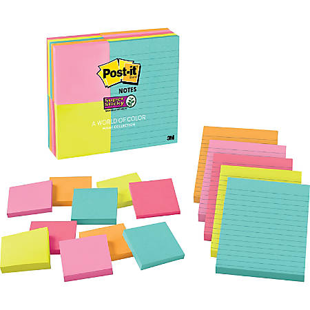 "Post it®  Super Sticky Notes, 3"" x 3"", New York, Pack Of 24 Pads"