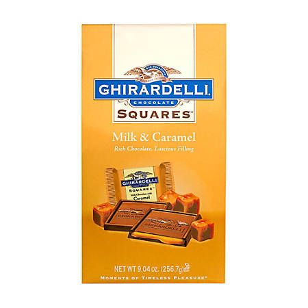 Ghirardelli® Chocolate Squares, Milk Chocolate And Caramel, 9.04 Oz, Pack Of 2 Bags