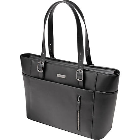 "Kensington 62850 Carrying Case (Tote) for 15.6"" Notebook - Faux Leather - Handle"