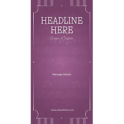 Custom Vertical Display Banner Musical Notes